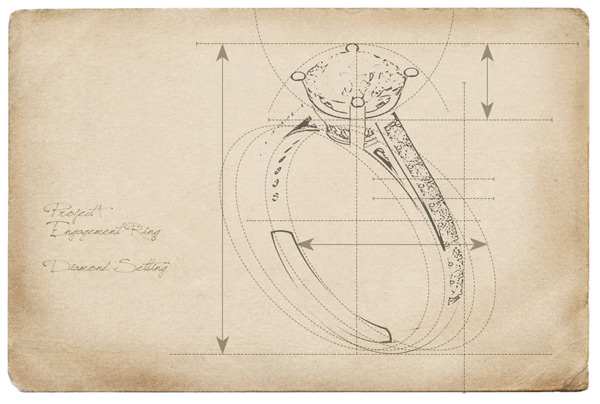 sheet of a diamond ring project design